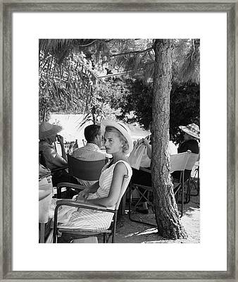 Mrs. Charles Amory On Palaiokastritsa Beach Framed Print