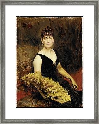 Mrs. Charles Warren-cram Ella Brooks Framed Print