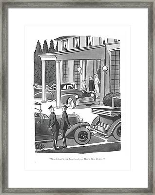 Mrs. Choate's Just ?ne Framed Print by Peter Arno