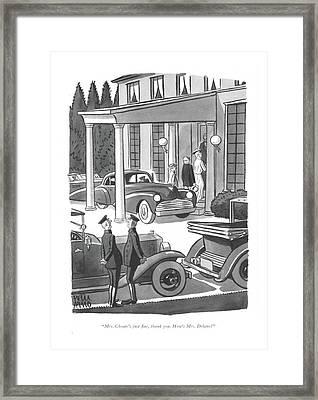 Mrs. Choate's Just ?ne Framed Print