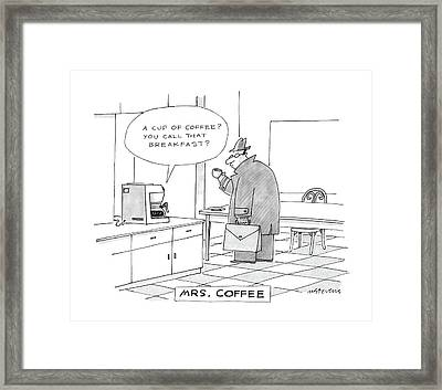 Mrs. Coffee: Framed Print