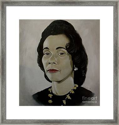 Mrs. Coretta Scott King Framed Print