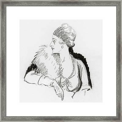 Mrs. Cornelius Vanderbilt Framed Print by Porter Woodruff