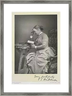Mrs E. Garrett Anderson Framed Print
