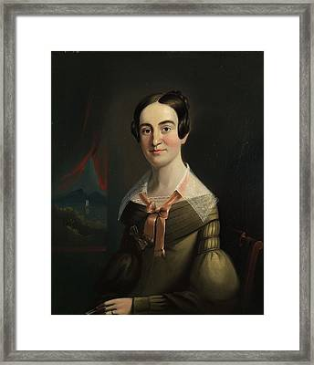 Mrs. Eunice Hall Of Portland, Maine Framed Print by William Matthew Prior
