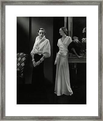 Mrs. Francis A. Wyman Wearing An Ermine Jacket Framed Print