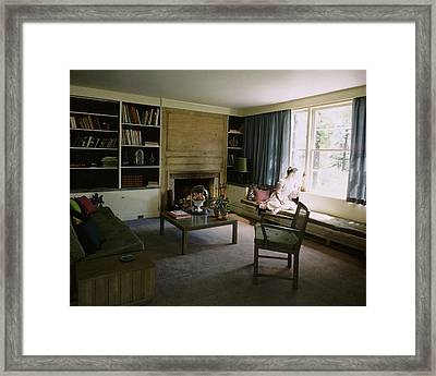 Mrs. Frederick Smith In Her Living Room Framed Print by Andr? Kert?sz