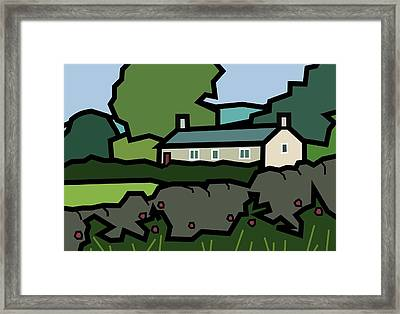 Mrs Hartly's Cottage Framed Print by Kenneth North