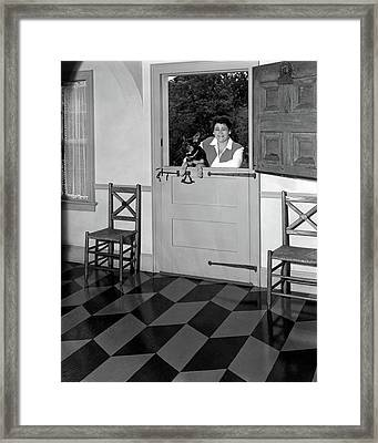 Mrs. Henry Tomlinson Curtiss And Her Dog Framed Print