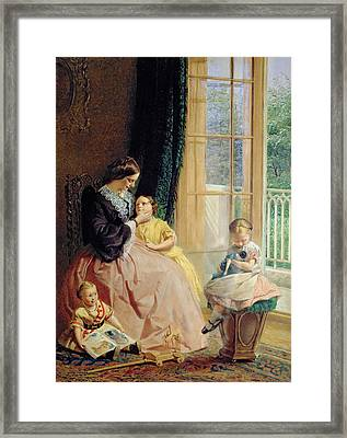 Mrs Hicks Mary Rosa And Elgar Framed Print by George Elgar Hicks