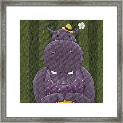 Mrs. Hippo Framed Print by Christy Beckwith