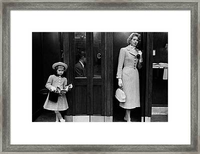 Mrs. Jeffrey Roche And Her Daughter Wearing Tweed Framed Print