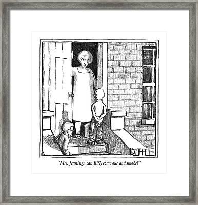 Mrs. Jennings Framed Print