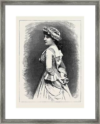 Mrs. Langtry As Miss Hardcastle In She Stoops To Conquer Framed Print