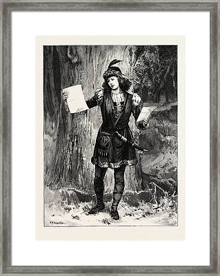 Mrs. Langtry As Rosalind In As You Like It At The St Framed Print