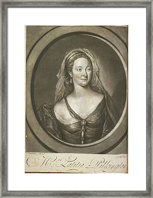 Mrs Latitia Pilkington Framed Print