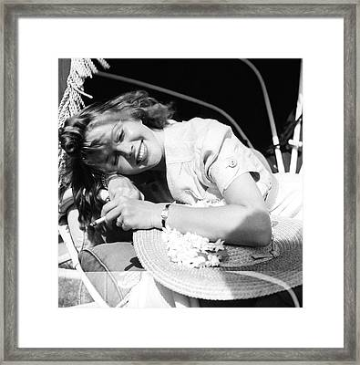 Mrs. Leonard Thomas Smoking Framed Print