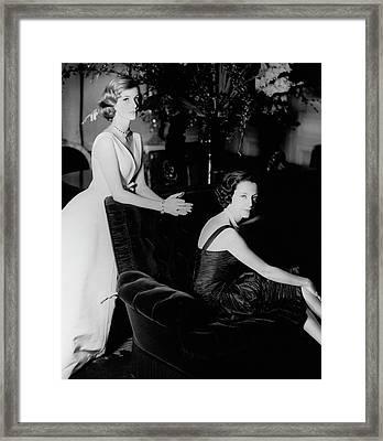 Mrs. Loel Guinness And Her Daughter Framed Print
