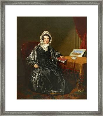 Mrs Louisa Brown Framed Print by British Library