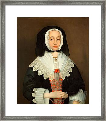 Mrs Lucy Hutchinson, C.1643 Framed Print by John Souch