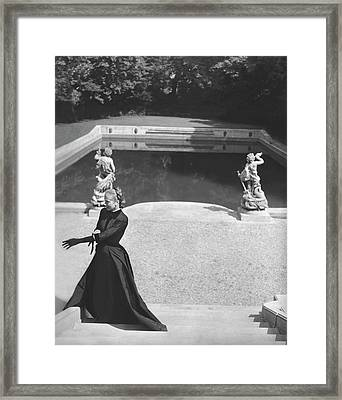 Mrs. Marc Allegret Wearing An Evening Dress Framed Print by Horst P. Horst