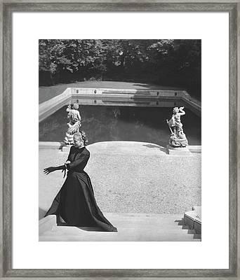 Mrs. Marc Allegret Wearing An Evening Dress Framed Print by Horst P. Horst