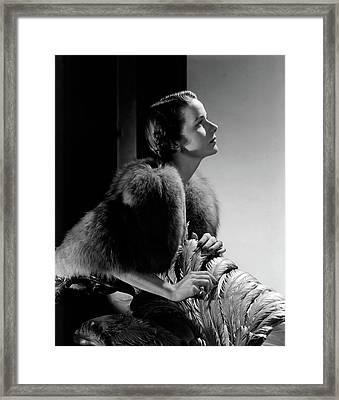 Mrs Marshall Hemingway Framed Print by Horst P. Horst