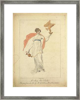 Mrs Mary Anne Clarke Framed Print by British Library