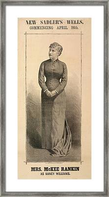 Mrs. Mckee Rankin Framed Print by British Library