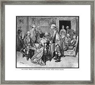 Mrs. Murray And Lord Howe Framed Print by Granger