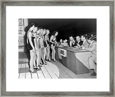 Mrs. New Jersey Contestants Framed Print