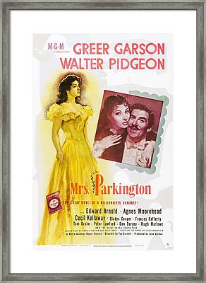 Mrs. Parkington, L-r Greer Garson Framed Print by Everett