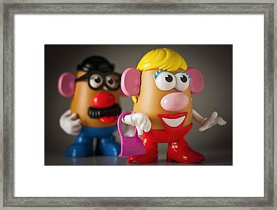 Mrs. Potato Head Framed Print