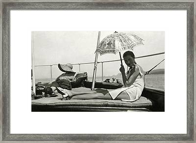 Mrs. Reginald Fellowes And Lady Juliet Duff Framed Print