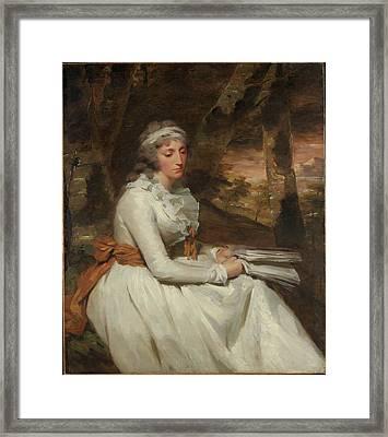 Mrs. Richard Alexander Oswald Louisa Framed Print by Sir Henry Raeburn
