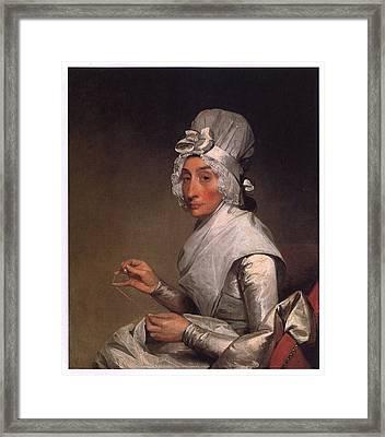 Mrs Richard Yates Framed Print by Gilbert Stuart