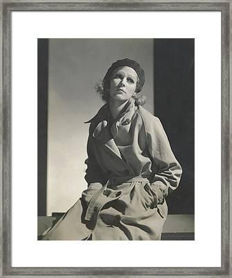 Mrs. Robert L. Stevens As Greta Garbo Framed Print