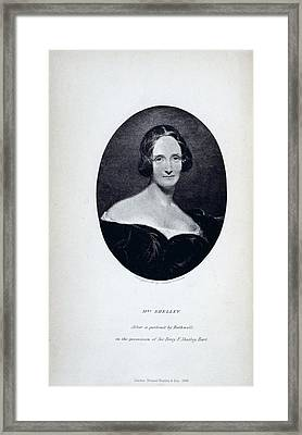 Mrs Shelley Framed Print by British Library