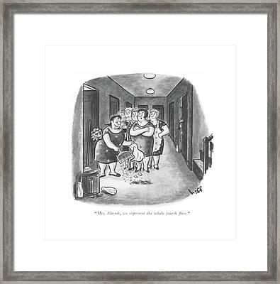 Mrs. Slavnik Framed Print