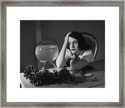 Mrs. Thomas S. Tyler Posed As Matisse's Painting Framed Print