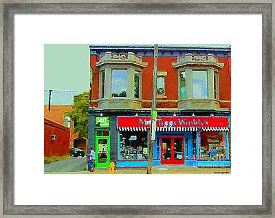 Mrs Tiggy Winkle's Toy Shop And Lost Marbles Richmond Rd The Glebe Paintings Ottawa Scenes C Spandau Framed Print by Carole Spandau