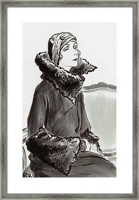 Mrs. Van Heukelom Framed Print by Rene Bouet-Willaumez