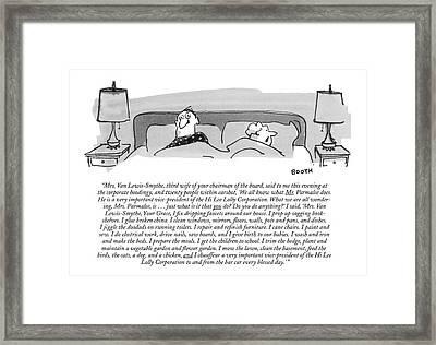 Mrs. Van Lewis-smythe Framed Print