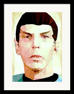 Spock Digital Art Framed Prints