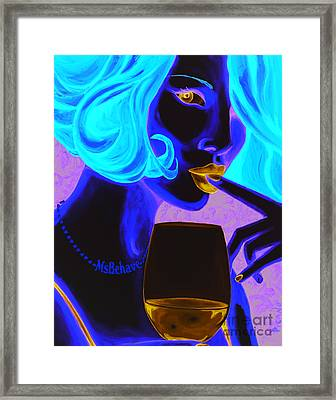 Ms Behave Framed Print