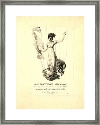 M.s. Blanchard,  Madeleine Sophie Armand French Aeronaut Framed Print by Litz Collection