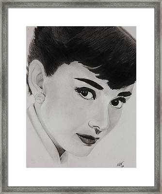 Ms Hepburn Framed Print by Brian Broadway