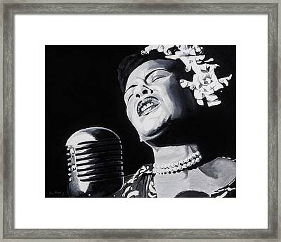 Ms Holiday Framed Print by Brian Broadway