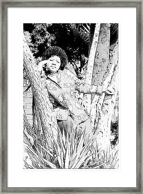 Ms. Jackie Framed Print