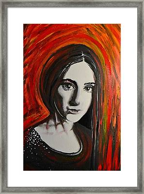 Portrait In Black #x Framed Print